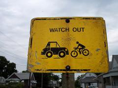 Een fietsongeluk zit in een klein hoekje